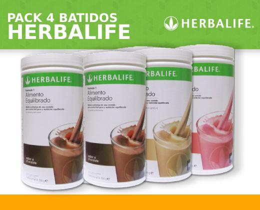 Pack 4 Batidos Fórmula 1 Herbalife