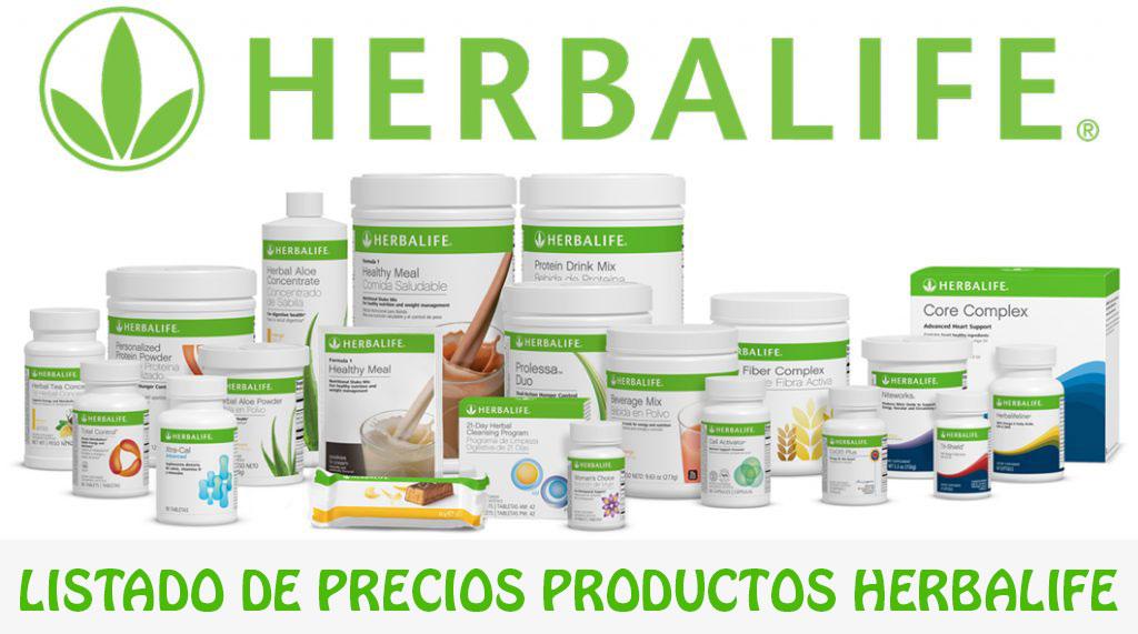 precios productos herbalife