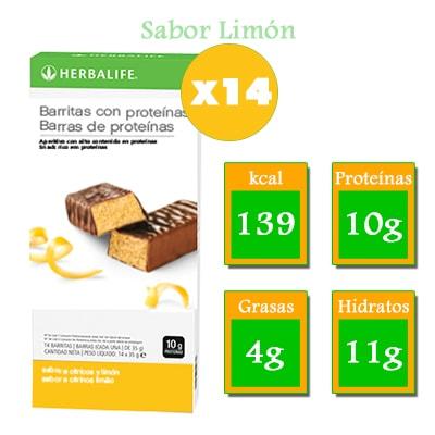 Comprar Barritas con Proteínas Herbalife Limón