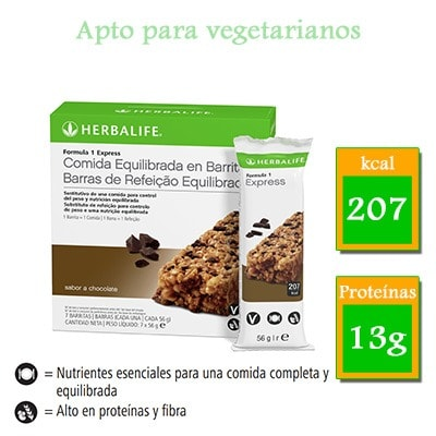 comprar barritas herbalife chocolate