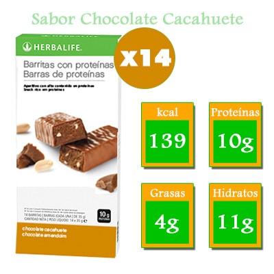 comprar barritas con proteinas herbalife chocolate